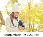 asian woman taking the picture   Shutterstock . vector #757658749