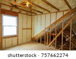 a room at a newly constructed... | Shutterstock . vector #757662274