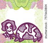 cute turtle. vector...   Shutterstock .eps vector #757663804
