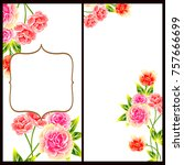 invitation with floral... | Shutterstock .eps vector #757666699