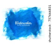 abstract blue stroke watercolor ... | Shutterstock .eps vector #757666831