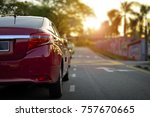 close up of car parking on...   Shutterstock . vector #757670665