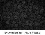 Stock photo black rose background 757674061