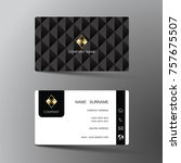 modern business card template... | Shutterstock .eps vector #757675507