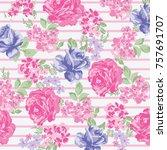 floral pattern in vector   Shutterstock .eps vector #757691707