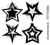 black and white grunge star... | Shutterstock . vector #75770386