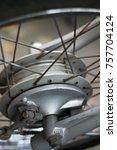 motor cycle tromol brake tire... | Shutterstock . vector #757704124