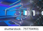 abstract dynamic interior with... | Shutterstock . vector #757704901
