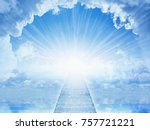 peaceful heavenly background  ... | Shutterstock . vector #757721221