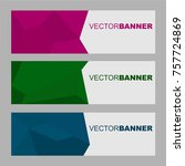 collection abstract header... | Shutterstock .eps vector #757724869