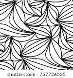 abstract vector seamless floral ... | Shutterstock .eps vector #757726525