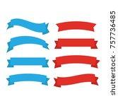 decor vector. ribbons banners... | Shutterstock .eps vector #757736485