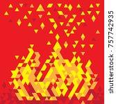 fire flame burn | Shutterstock .eps vector #757742935