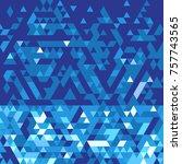 blue winter background | Shutterstock .eps vector #757743565