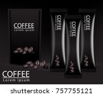 instant coffee ad  with coffee... | Shutterstock .eps vector #757755121