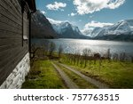idyllic nature of norway at... | Shutterstock . vector #757763515