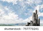 image of high and huge stone... | Shutterstock . vector #757773241