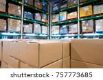 group of boxes in smart... | Shutterstock . vector #757773685