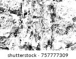grunge black and white seamless ... | Shutterstock . vector #757777309