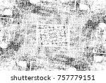 grunge black and white seamless ... | Shutterstock . vector #757779151