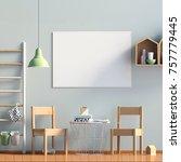 pastel child's room. playroom....   Shutterstock . vector #757779445