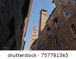 old architectural corner... | Shutterstock . vector #757781365