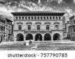 a building in plaza mayor  main ... | Shutterstock . vector #757790785