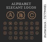 vector letters a z logo design... | Shutterstock .eps vector #757794481