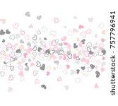 flying hearts vector pattern.... | Shutterstock .eps vector #757796941