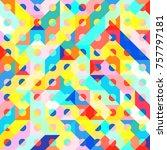 abstract 1980 memphis geometric ...   Shutterstock .eps vector #757797181