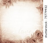old grunge background  with... | Shutterstock . vector #75779932