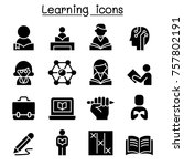 study  learning  education icon ... | Shutterstock .eps vector #757802191