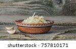 homemade sauerkraut village.... | Shutterstock . vector #757810171