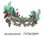beautiful festive christmas... | Shutterstock . vector #757825894
