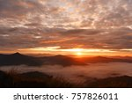 colorful dramatic sky with... | Shutterstock . vector #757826011