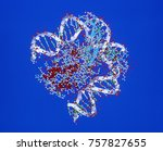 protein molecules as a computer ... | Shutterstock . vector #757827655