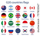 raster illustration of g 20... | Shutterstock . vector #757833067