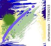 splash brush strokes seamless... | Shutterstock .eps vector #757838215
