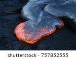 lava flow in hawaii | Shutterstock . vector #757852555