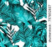 watercolor seamless pattern... | Shutterstock . vector #757852837
