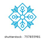 creative geometric snowflake ...   Shutterstock .eps vector #757855981