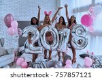 2018 is almost here  four... | Shutterstock . vector #757857121