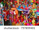 thai rabbit keyring  | Shutterstock . vector #757859401