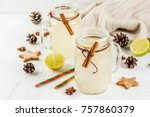 fall and winter drinks.... | Shutterstock . vector #757860379