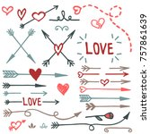 hand drawn love set  vector | Shutterstock .eps vector #757861639