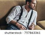 handsome thinker. handsome... | Shutterstock . vector #757863361