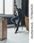 portrait of confidence. full... | Shutterstock . vector #757863424