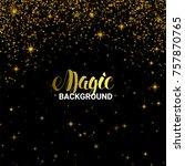 magic golden light effect....   Shutterstock .eps vector #757870765