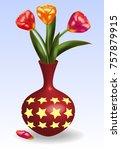 Three Tulips Red  Pink  Orange...