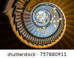 Small photo of The magnificent spiral staircase inside Heal's department store in Tottenham Court Road. London, United Kingdom. October 2016